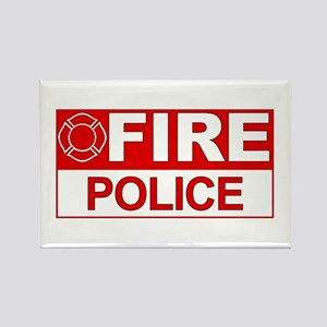 Fire Police Rectangle Magnet