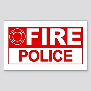 Fire Police Rectangle Sticker