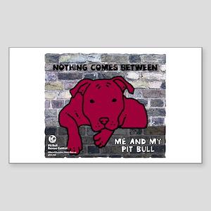 Me & My Pit Bull Rectangle Sticker