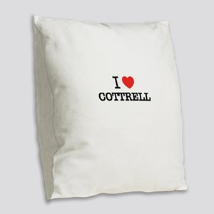 I Love COTTRELL Burlap Throw Pillow