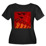 jet420 Women's Plus Size Scoop Neck Dark T-Shirt