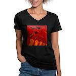 jet420 Women's V-Neck Dark T-Shirt