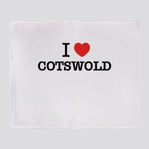 I Love COTSWOLD Throw Blanket