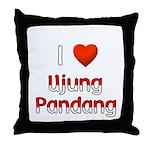 I Love Ujung Pandang Throw Pillow