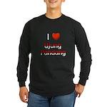 I Love Ujung Pandang Long Sleeve Dark T-Shirt
