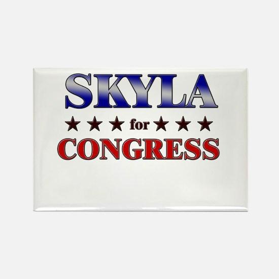 SKYLA for congress Rectangle Magnet