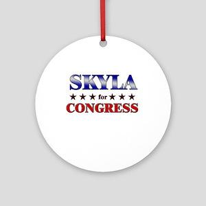 SKYLA for congress Ornament (Round)