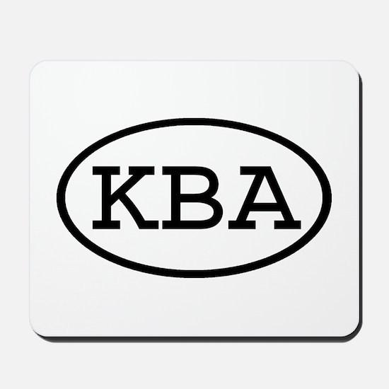 KBA Oval Mousepad