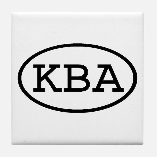 KBA Oval Tile Coaster