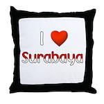 I Love Surabaya Throw Pillow