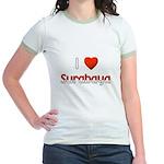 I Love Surabaya Jr. Ringer T-Shirt