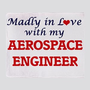 Madly in love with my Aerospace Engi Throw Blanket