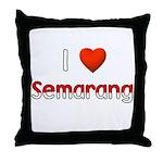 I Love Semarang Throw Pillow
