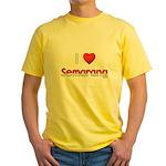 I Love Semarang Yellow T-Shirt