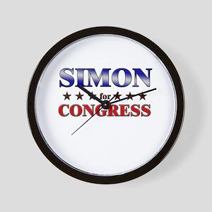 SIMON for congress Wall Clock