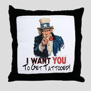 I want you... Throw Pillow