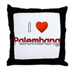 I Love Palembang Throw Pillow