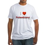 I Love Palembang Fitted T-Shirt