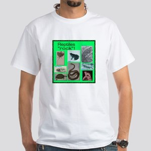 Reptiles rock! White T-Shirt
