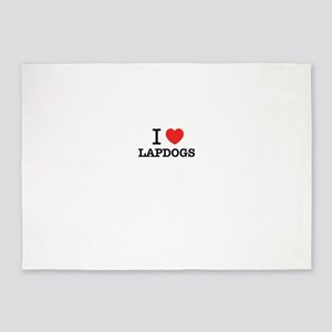 I Love LAPDOGS 5'x7'Area Rug