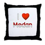 I Love Medan Throw Pillow