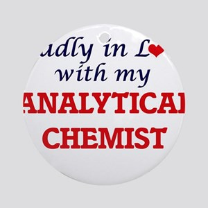Madly in love with my Analytical Ch Round Ornament