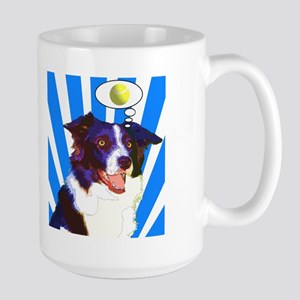 Comic Border Collie Large Mug
