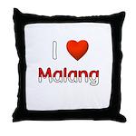 I Love Malang Throw Pillow