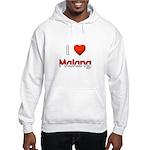 I Love Malang Hooded Sweatshirt