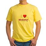 I Love Malang Yellow T-Shirt