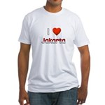 I Love Jakarta Fitted T-Shirt