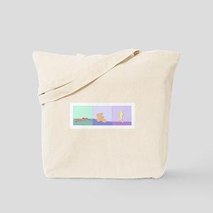 TRIATHLON TRIPTYCH PAINTING PALE Tote Bag