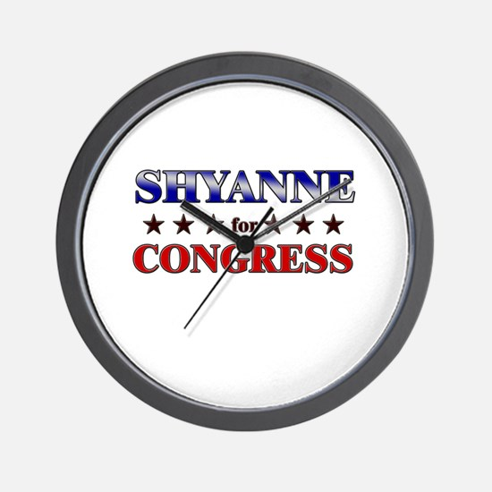 SHYANNE for congress Wall Clock