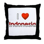 I Love Indonesia Throw Pillow