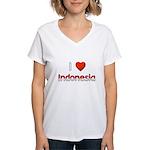 I Love Indonesia Women's V-Neck T-Shirt