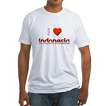 I Love Indonesia Fitted T-Shirt