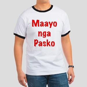 Maayo nga Pasko Red Ringer T