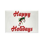 Happy Holidays Rectangle Magnet (10 pack)
