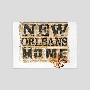 New Orleans Home Fleur De Lis 5'x7'Area Rug