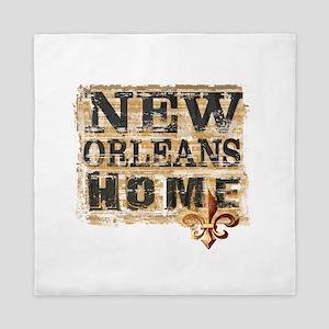 New Orleans Home Fleur De Lis Queen Duvet