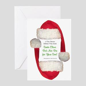 Funny secret santa greeting cards cafepress santa claus is a pervert greeting card m4hsunfo