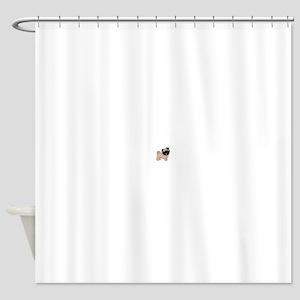 Pugdorable Shower Curtain