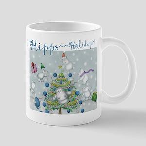 Hippo Holidays Super~Large Mug! Mugs