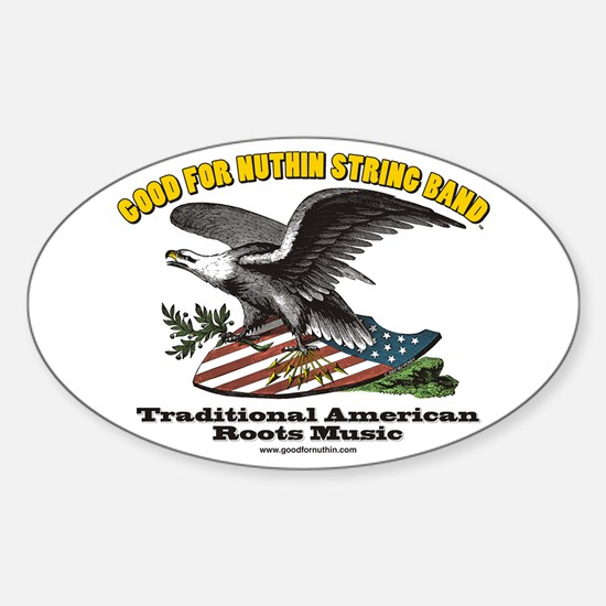 Good for Nuthin String Band Eagle Oval Decal