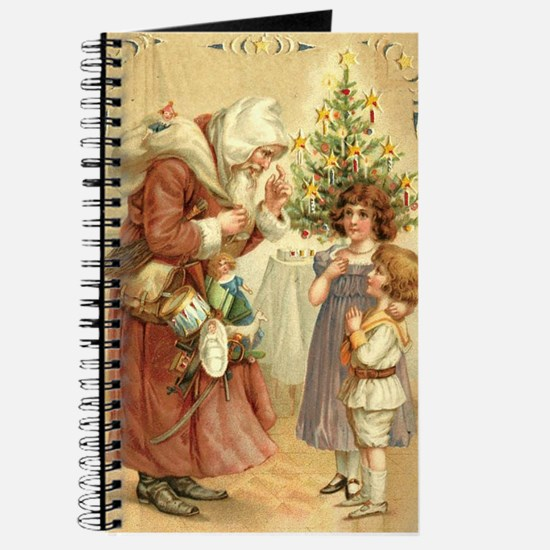 Christmas Santa Claus Blank Notebook Journal