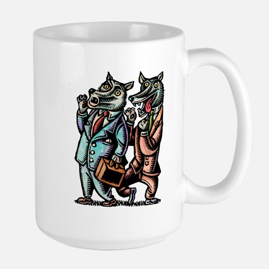 Wolves in Business Suits Wolf Whistle Mugs