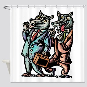 Wolves in Business Suits Wolf Whist Shower Curtain