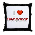 I Love Denpasar Throw Pillow