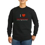 I Love Denpasar Long Sleeve Dark T-Shirt