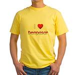 I Love Denpasar Yellow T-Shirt
